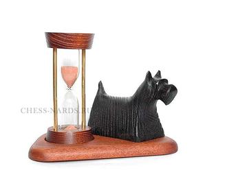 """Песочные часы со скульптурой """"Собака Клякса"""" 3113A7"""
