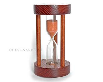Песочные часы N6 круглые с дерев. стойками (5 минут) 3113A61