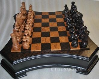 Шахматы   в ларце «Лев»