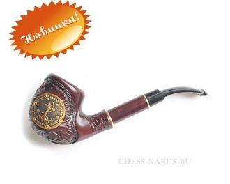 """Трубка  """"Супер - Якорь кожа золотой"""" 11070-23"""