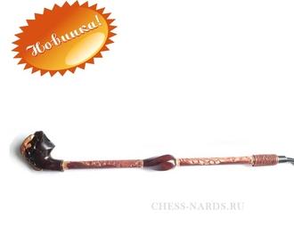 """Трубка  """"Гусар с кожей фигурный - Саламандра"""" 11070-414"""